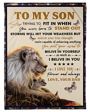 To My Son From Dad  - Lion - 04 Fleece Blanket tile