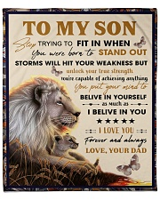"""To My Son From Dad  - Lion - 04 Fleece Blanket - 50"""" x 60"""" front"""
