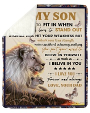 """To My Son From Dad  - Lion - 04 Sherpa Fleece Blanket - 50"""" x 60"""" thumbnail"""