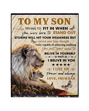 """To My Son From Dad  - Lion - 04 Quilt 40""""x50"""" - Baby thumbnail"""