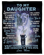 To My Daughter From Mom -Lioness- 01 Fleece Blanket tile