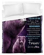 To My Daughter from Mom -  Bear Duvet Cover - Twin thumbnail
