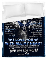 To My Dad From Son - Eagles Duvet Cover - Twin thumbnail