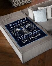 """To My Dad From Son - Eagles Small Fleece Blanket - 30"""" x 40"""" aos-coral-fleece-blanket-30x40-lifestyle-front-03"""