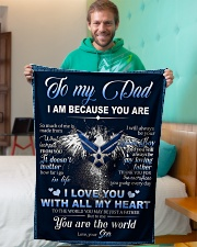 """To My Dad From Son - Eagles Small Fleece Blanket - 30"""" x 40"""" aos-coral-fleece-blanket-30x40-lifestyle-front-09"""
