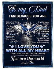 """To My Dad From Son - Eagles Small Fleece Blanket - 30"""" x 40"""" front"""