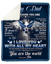 """To My Dad From Son - Eagles Sherpa Fleece Blanket - 50"""" x 60"""" thumbnail"""
