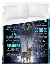 To My Daughter From DAD - Wolf- 01 Duvet Cover - Twin thumbnail