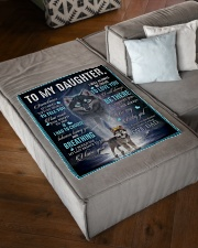 "To My Daughter From DAD - Wolf- 01 Small Fleece Blanket - 30"" x 40"" aos-coral-fleece-blanket-30x40-lifestyle-front-03"