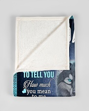 "To My Daughter From DAD - Wolf- 01 Small Fleece Blanket - 30"" x 40"" aos-coral-fleece-blanket-30x40-lifestyle-front-17"