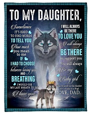 "To My Daughter From DAD - Wolf- 01 Small Fleece Blanket - 30"" x 40"" front"