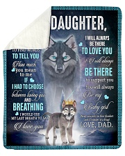 "To My Daughter From DAD - Wolf- 01 Sherpa Fleece Blanket - 50"" x 60"" thumbnail"