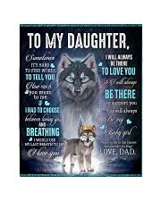"To My Daughter From DAD - Wolf- 01 Quilt 40""x50"" - Baby thumbnail"