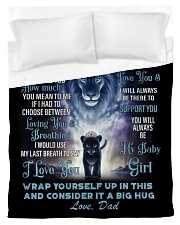 To My Daughter From DAD - Lion- PRO1 Duvet Cover - Twin thumbnail