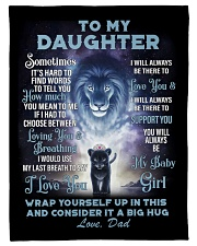 To My Daughter From DAD - Lion- PRO1 Fleece Blanket tile