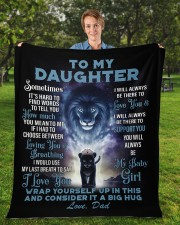 """To My Daughter From DAD - Lion- PRO1 Fleece Blanket - 50"""" x 60"""" aos-coral-fleece-blanket-50x60-lifestyle-front-01a"""