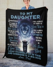 """To My Daughter From DAD - Lion- PRO1 Fleece Blanket - 50"""" x 60"""" aos-coral-fleece-blanket-50x60-lifestyle-front-02"""