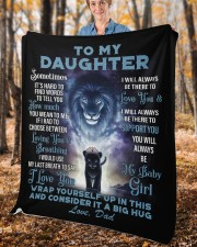 """To My Daughter From DAD - Lion- PRO1 Fleece Blanket - 50"""" x 60"""" aos-coral-fleece-blanket-50x60-lifestyle-front-02c"""