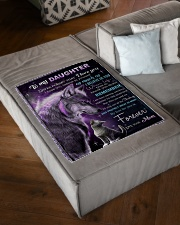 """To My Daughter Small Fleece Blanket - 30"""" x 40"""" aos-coral-fleece-blanket-30x40-lifestyle-front-03"""