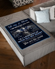 """To My MOM From Daughter - Eagles Small Fleece Blanket - 30"""" x 40"""" aos-coral-fleece-blanket-30x40-lifestyle-front-03"""