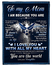"""To My MOM From Daughter - Eagles Small Fleece Blanket - 30"""" x 40"""" front"""