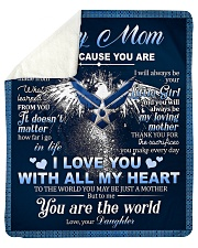 """To My MOM From Daughter - Eagles Sherpa Fleece Blanket - 50"""" x 60"""" thumbnail"""