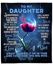 "To My Daughter From DAD - PAH Fleece Blanket - 50"" x 60"" front"