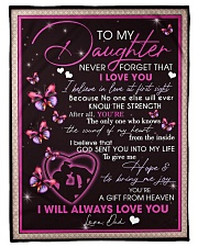 To My Daughter From Dad -02 Fleece Blanket tile
