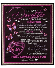 "To My Daughter From Dad -02 Fleece Blanket - 50"" x 60"" front"