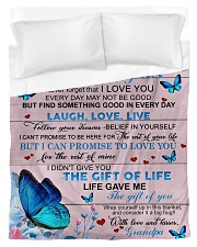 To My Grandson From Grandpa -Butterfly- 03 Duvet Cover - Twin thumbnail