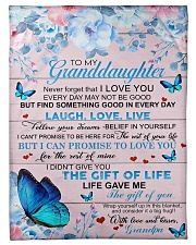 To My Grandson From Grandpa -Butterfly- 03 Fleece Blanket tile