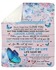 "To My Grandson From Grandpa -Butterfly- 03 Sherpa Fleece Blanket - 50"" x 60"" thumbnail"