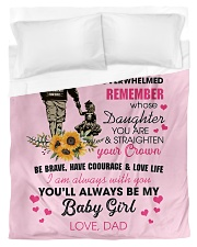To My Daughter From DAD- Baby girl Duvet Cover - Twin thumbnail