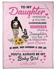 "To My Daughter From DAD- Baby girl Small Fleece Blanket - 30"" x 40"" front"