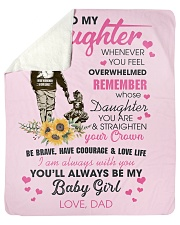 "To My Daughter From DAD- Baby girl Sherpa Fleece Blanket - 50"" x 60"" thumbnail"