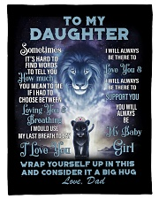 """To My Daughter From DAD - Lion- 01 Small Fleece Blanket - 30"""" x 40"""" thumbnail"""