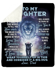"""To My Daughter From DAD - Lion- 01 Sherpa Fleece Blanket - 50"""" x 60"""" thumbnail"""