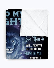 """To My Daughter From DAD - Lion- 01 Quilt 70""""x80"""" - Queen aos-quilt-70x80-lifestyle-closeup-front-01"""