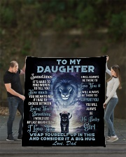 """To My Daughter From DAD - Lion- 01 Quilt 70""""x80"""" - Queen aos-quilt-70x80-lifestyle-front-02"""