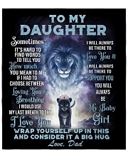 """To My Daughter From DAD - Lion- 01 Quilt 70""""x80"""" - Queen front"""