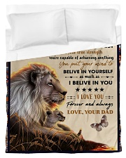To My Daughter From Dad - Lion - 04 Duvet Cover - Twin thumbnail