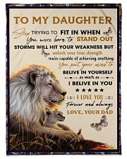 To My Daughter From Dad - Lion - 04 Fleece Blanket tile