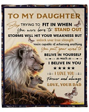 """To My Daughter From Dad - Lion - 04 Fleece Blanket - 50"""" x 60"""" front"""