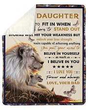 """To My Daughter From Dad - Lion - 04 Sherpa Fleece Blanket - 50"""" x 60"""" thumbnail"""