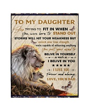 """To My Daughter From Dad - Lion - 04 Quilt 40""""x50"""" - Baby thumbnail"""