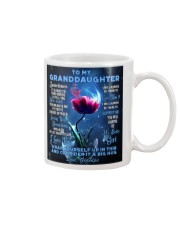 To My Granddaughter from Grandpa -Dragonfly Mug tile