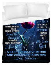 To My Granddaughter from Grandpa -Dragonfly Duvet Cover - Twin thumbnail