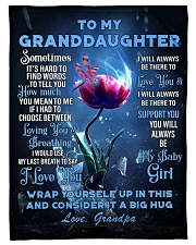 To My Granddaughter from Grandpa -Dragonfly Fleece Blanket tile