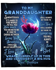 "To My Granddaughter from Grandpa -Dragonfly Fleece Blanket - 50"" x 60"" front"
