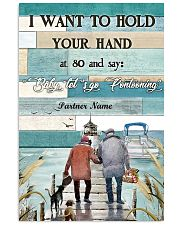 I Want to Hod Your Hand Personalize 24x36 Poster front